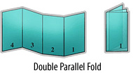 Brochure double parallel fold
